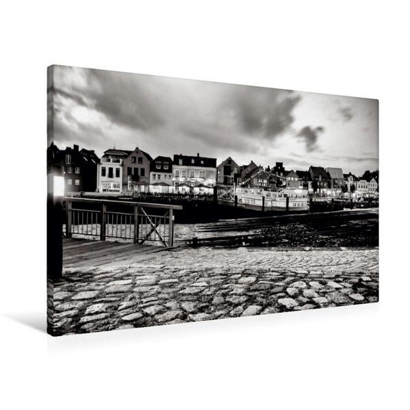 Premium Textil-Leinwand 90 cm x 60 cm quer, Hafen | Wandbild, Bild auf Keilrahmen, Fertigbild auf echter Leinwand, Leinwanddruck - Coverbild