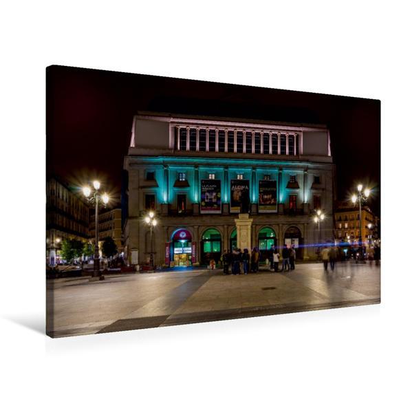 Premium Textil-Leinwand 75 cm x 50 cm quer, Teatro Real   Wandbild, Bild auf Keilrahmen, Fertigbild auf echter Leinwand, Leinwanddruck - Coverbild
