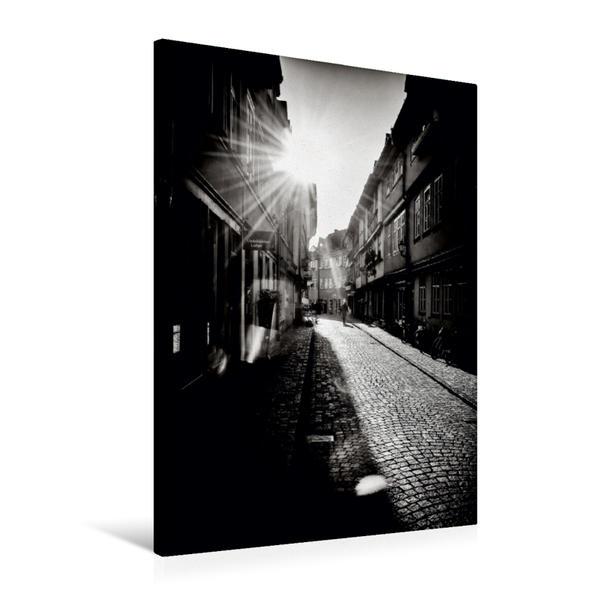 Premium Textil-Leinwand 60 cm x 90 cm hoch, Abendstimmung | Wandbild, Bild auf Keilrahmen, Fertigbild auf echter Leinwand, Leinwanddruck - Coverbild