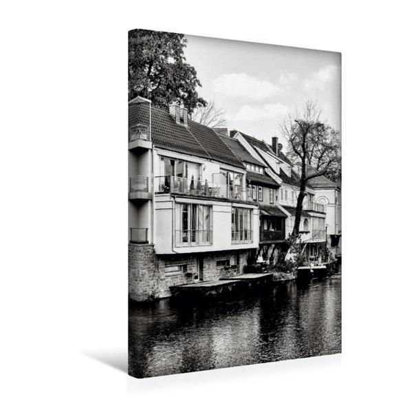Premium Textil-Leinwand 30 cm x 45 cm hoch, Leben am Fluss | Wandbild, Bild auf Keilrahmen, Fertigbild auf echter Leinwand, Leinwanddruck - Coverbild