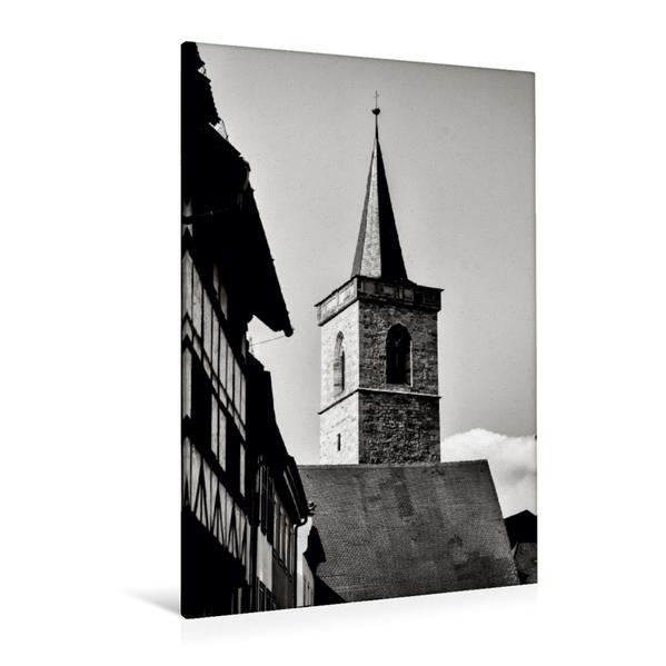 Premium Textil-Leinwand 80 cm x 120 cm  hoch, Blick auf die Ägidienkirche | Wandbild, Bild auf Keilrahmen, Fertigbild auf echter Leinwand, Leinwanddruck - Coverbild