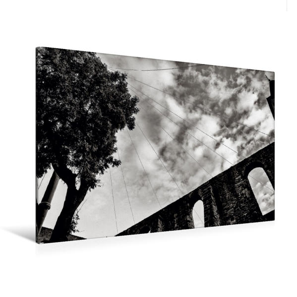 Premium Textil-Leinwand 120 cm x 80 cm quer, Stiftsruine | Wandbild, Bild auf Keilrahmen, Fertigbild auf echter Leinwand, Leinwanddruck - Coverbild