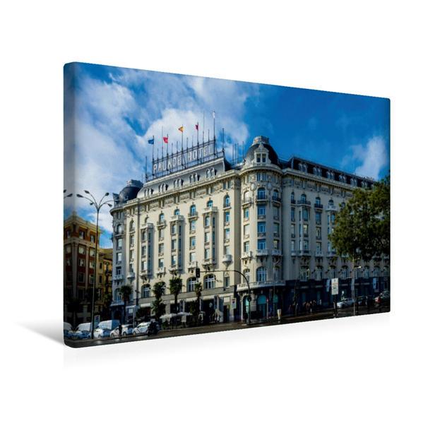 Premium Textil-Leinwand 45 cm x 30 cm quer, Palas Hotel | Wandbild, Bild auf Keilrahmen, Fertigbild auf echter Leinwand, Leinwanddruck - Coverbild