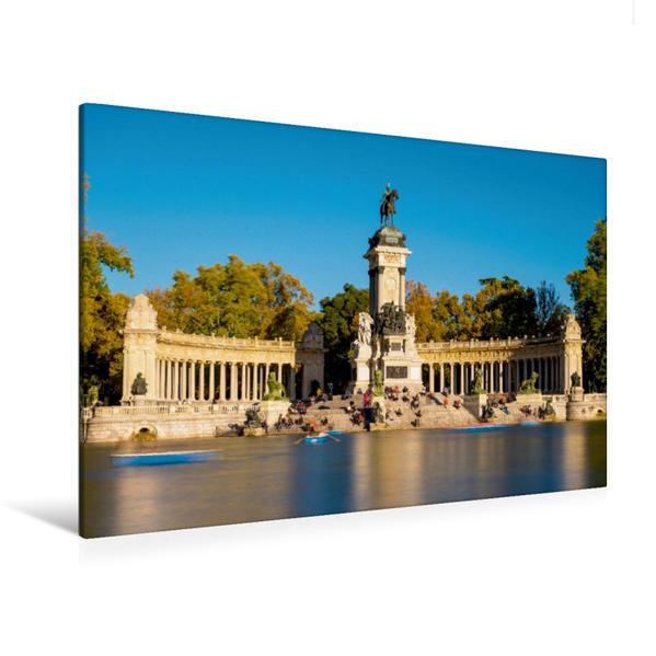 Premium Textil-Leinwand 120 cm x 80 cm quer, Glorieta de la Sardana | Wandbild, Bild auf Keilrahmen, Fertigbild auf echter Leinwand, Leinwanddruck - Coverbild