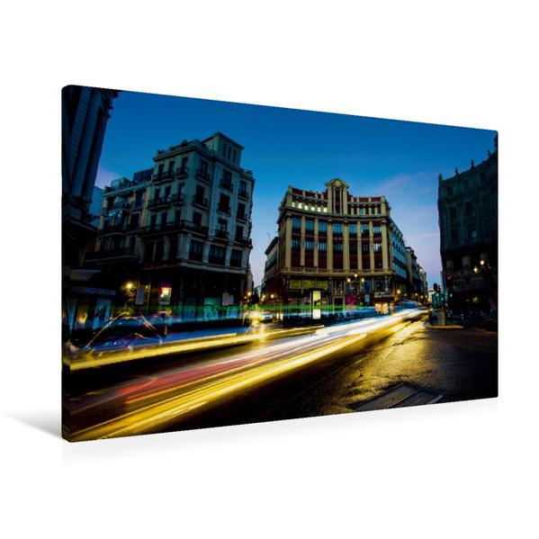 Premium Textil-Leinwand 90 cm x 60 cm quer, Plaza Canalejas | Wandbild, Bild auf Keilrahmen, Fertigbild auf echter Leinwand, Leinwanddruck - Coverbild