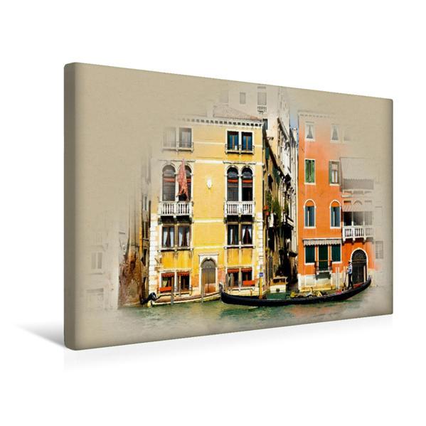 Premium Textil-Leinwand 45 cm x 30 cm quer, Palazzo Flangini | Wandbild, Bild auf Keilrahmen, Fertigbild auf echter Leinwand, Leinwanddruck - Coverbild