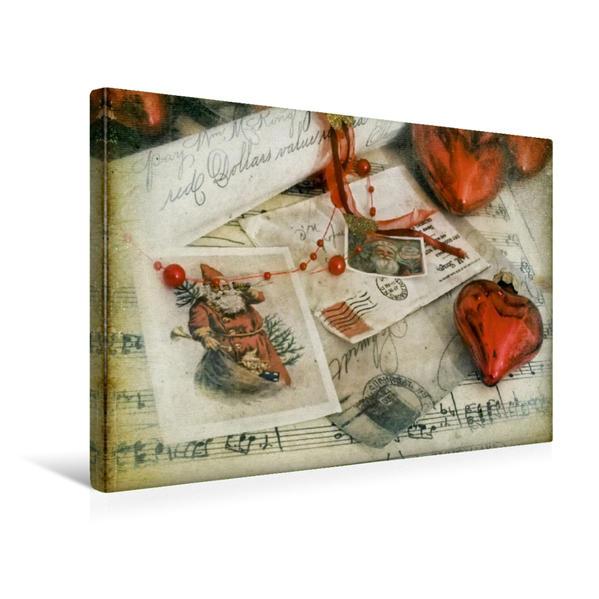 Premium Textil-Leinwand 45 cm x 30 cm quer, Weihnachtspost | Wandbild, Bild auf Keilrahmen, Fertigbild auf echter Leinwand, Leinwanddruck - Coverbild
