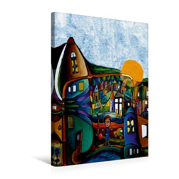 Premium Textil-Leinwand 50 cm x 75 cm hoch, Der Elfenbein Turm   Wandbild, Bild auf Keilrahmen, Fertigbild auf echter Leinwand, Leinwanddruck - Coverbild