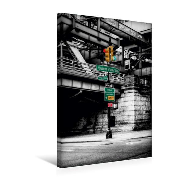 Premium Textil-Leinwand 30 cm x 45 cm hoch, New York Queensboro Bridge | Wandbild, Bild auf Keilrahmen, Fertigbild auf echter Leinwand, Leinwanddruck - Coverbild