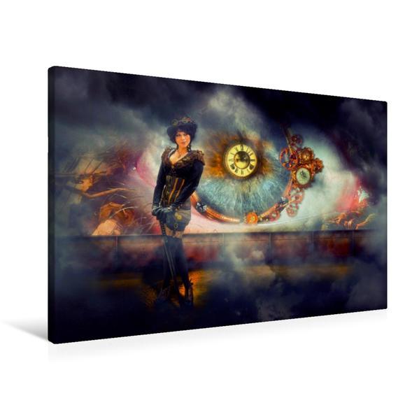 Premium Textil-Leinwand 90 cm x 60 cm quer, Das Auge | Wandbild, Bild auf Keilrahmen, Fertigbild auf echter Leinwand, Leinwanddruck - Coverbild
