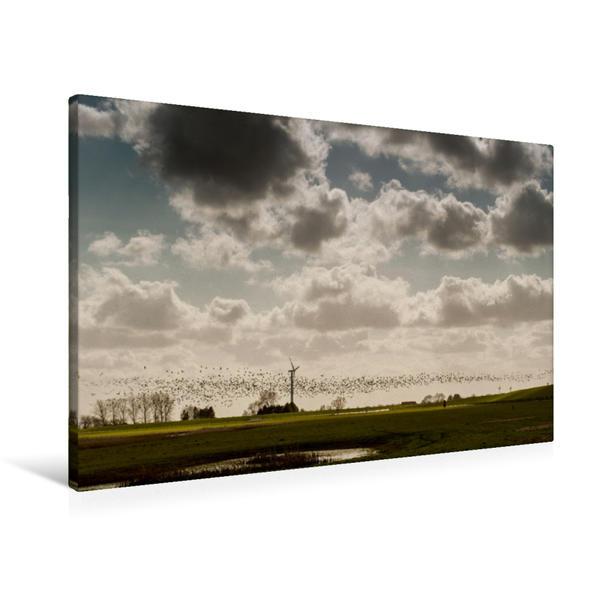 Premium Textil-Leinwand 90 cm x 60 cm quer, Ein Motiv aus dem Kalender Emotionale Momente: Dangast am Jadebusen   Wandbild, Bild auf Keilrahmen, Fertigbild auf echter Leinwand, Leinwanddruck - Coverbild