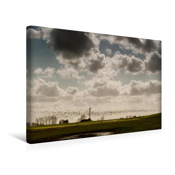 Premium Textil-Leinwand 45 cm x 30 cm quer, Ein Motiv aus dem Kalender Emotionale Momente: Dangast am Jadebusen | Wandbild, Bild auf Keilrahmen, Fertigbild auf echter Leinwand, Leinwanddruck - Coverbild