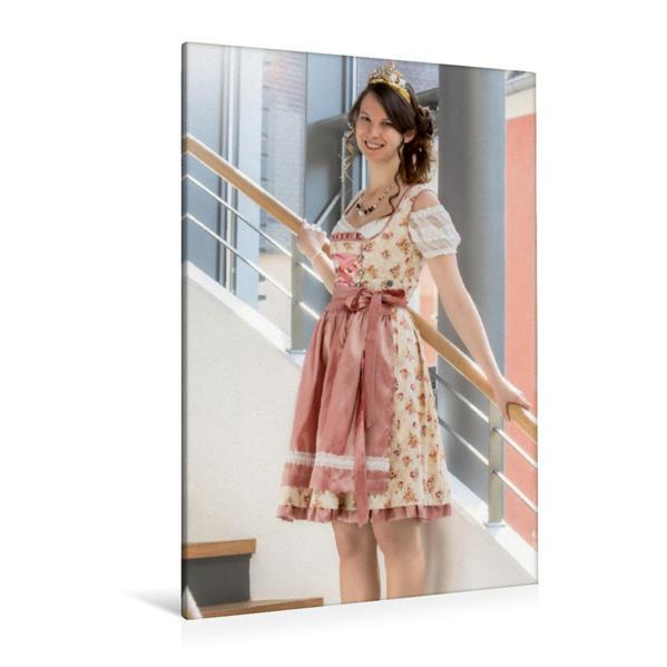 Premium Textil-Leinwand 80 cm x 120 cm  hoch, Fränkische Weinkönigin Christina aus Nordheim am Main | Wandbild, Bild auf Keilrahmen, Fertigbild auf echter Leinwand, Leinwanddruck - Coverbild