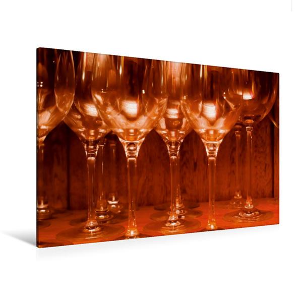 Premium Textil-Leinwand 120 cm x 80 cm quer, Weingläser | Wandbild, Bild auf Keilrahmen, Fertigbild auf echter Leinwand, Leinwanddruck - Coverbild