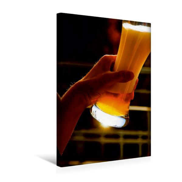 Premium Textil-Leinwand 30 cm x 45 cm hoch, Ein Motiv aus dem Kalender Bier | Wandbild, Bild auf Keilrahmen, Fertigbild auf echter Leinwand, Leinwanddruck - Coverbild