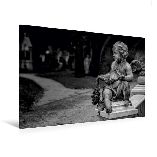 Premium Textil-Leinwand 120 cm x 80 cm quer, Engel | Wandbild, Bild auf Keilrahmen, Fertigbild auf echter Leinwand, Leinwanddruck - Coverbild