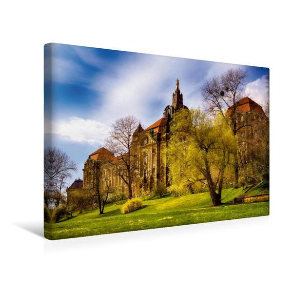 Premium Textil-Leinwand 45 cm x 30 cm quer, Sächsische Staatskanzlei   Wandbild, Bild auf Keilrahmen, Fertigbild auf echter Leinwand, Leinwanddruck - Coverbild