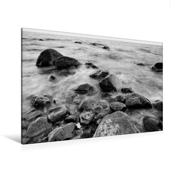 Premium Textil-Leinwand 120 cm x 80 cm quer, Strand bei Kap Arkona   Wandbild, Bild auf Keilrahmen, Fertigbild auf echter Leinwand, Leinwanddruck - Coverbild