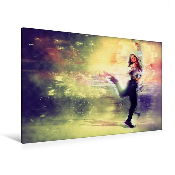 Premium Textil-Leinwand 120 cm x 80 cm quer, The Dance Explosion