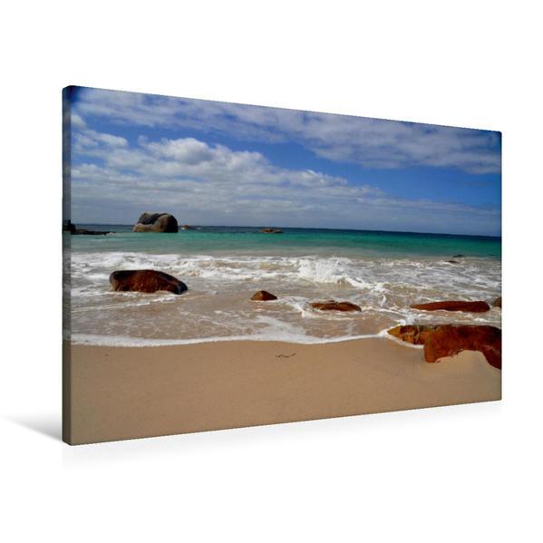 Premium Textil-Leinwand 90 cm x 60 cm quer, Fisherman's Beach | Wandbild, Bild auf Keilrahmen, Fertigbild auf echter Leinwand, Leinwanddruck - Coverbild