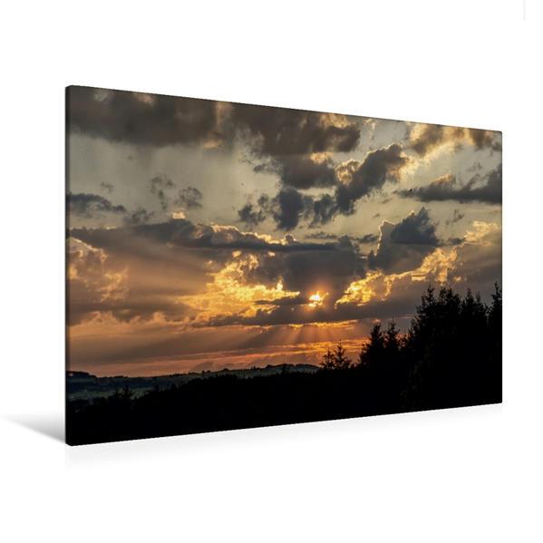 Premium Textil-Leinwand 120 cm x 80 cm quer, Ein Motiv aus dem Kalender Steingaden und Umgebung   Wandbild, Bild auf Keilrahmen, Fertigbild auf echter Leinwand, Leinwanddruck - Coverbild