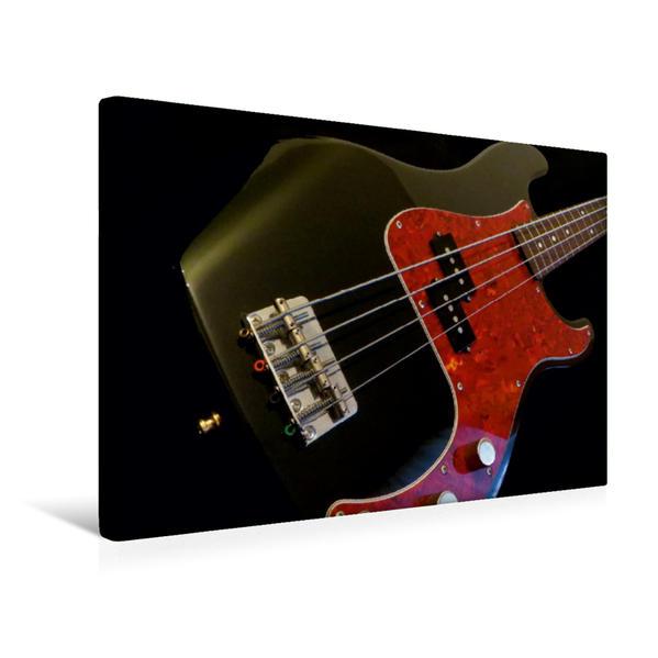 Premium Textil-Leinwand 45 cm x 30 cm quer, E-Bass, PRECISION | Wandbild, Bild auf Keilrahmen, Fertigbild auf echter Leinwand, Leinwanddruck - Coverbild