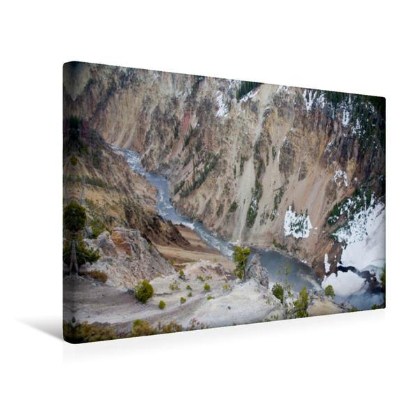 Premium Textil-Leinwand 45 cm x 30 cm quer, Yellowstone Nationalpark | Wandbild, Bild auf Keilrahmen, Fertigbild auf echter Leinwand, Leinwanddruck - Coverbild
