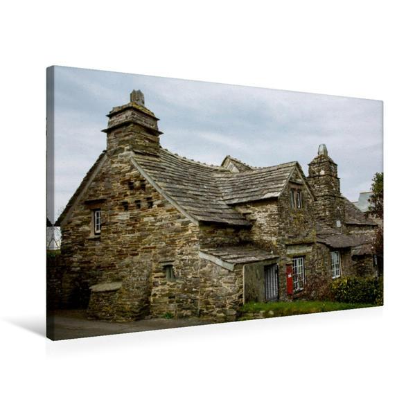 Premium Textil-Leinwand 75 cm x 50 cm quer, Tintagel Old Post Office | Wandbild, Bild auf Keilrahmen, Fertigbild auf echter Leinwand, Leinwanddruck - Coverbild