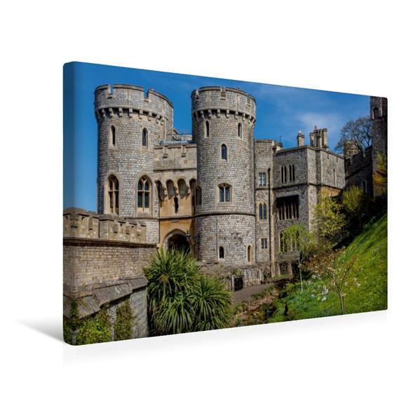 Premium Textil-Leinwand 45 cm x 30 cm quer, Windsor Castle | Wandbild, Bild auf Keilrahmen, Fertigbild auf echter Leinwand, Leinwanddruck - Coverbild