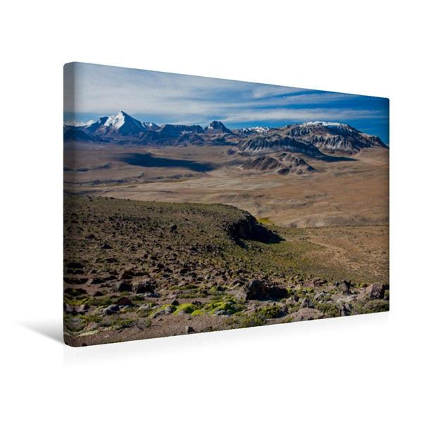 Premium Textil-Leinwand 45 cm x 30 cm quer, Landschaft bei Tacna | Wandbild, Bild auf Keilrahmen, Fertigbild auf echter Leinwand, Leinwanddruck - Coverbild