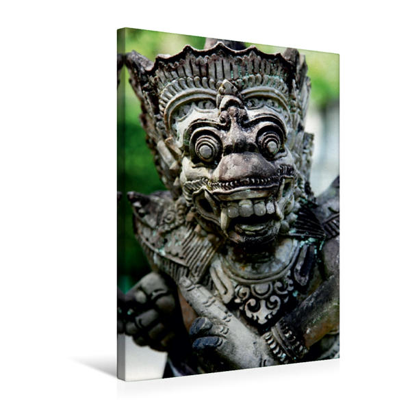 Premium Textil-Leinwand 50 cm x 75 cm hoch, Ein Motiv aus dem Kalender Balis Steingesichter | Wandbild, Bild auf Keilrahmen, Fertigbild auf echter Leinwand, Leinwanddruck - Coverbild