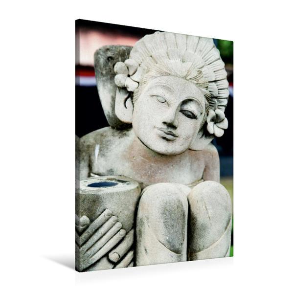 Premium Textil-Leinwand 60 cm x 90 cm hoch, Ein Motiv aus dem Kalender Balis Steingesichter | Wandbild, Bild auf Keilrahmen, Fertigbild auf echter Leinwand, Leinwanddruck - Coverbild