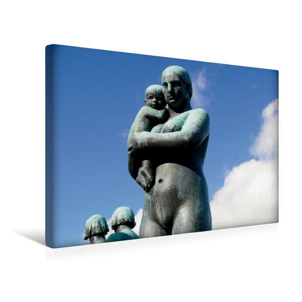 Premium Textil-Leinwand 45 cm x 30 cm quer, Frau mit Baby auf dem Arm   Wandbild, Bild auf Keilrahmen, Fertigbild auf echter Leinwand, Leinwanddruck - Coverbild