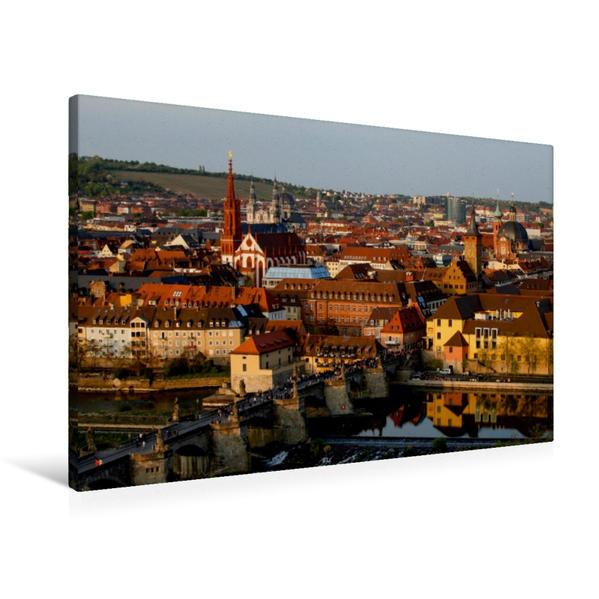 Premium Textil-Leinwand 90 cm x 60 cm quer, Würzburg | Wandbild, Bild auf Keilrahmen, Fertigbild auf echter Leinwand, Leinwanddruck - Coverbild