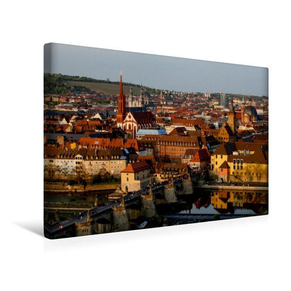 Premium Textil-Leinwand 45 cm x 30 cm quer, Würzburg   Wandbild, Bild auf Keilrahmen, Fertigbild auf echter Leinwand, Leinwanddruck - Coverbild