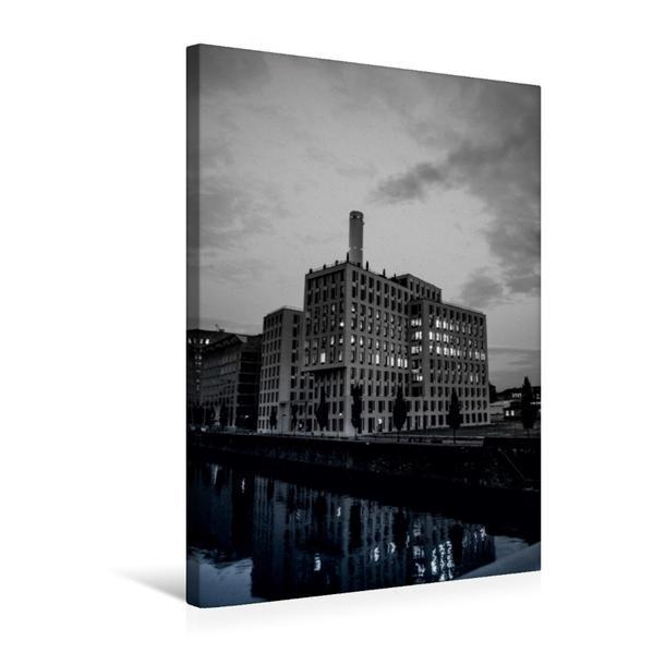 Premium Textil-Leinwand 50 cm x 75 cm hoch, Heizkraftwerk West | Wandbild, Bild auf Keilrahmen, Fertigbild auf echter Leinwand, Leinwanddruck - Coverbild