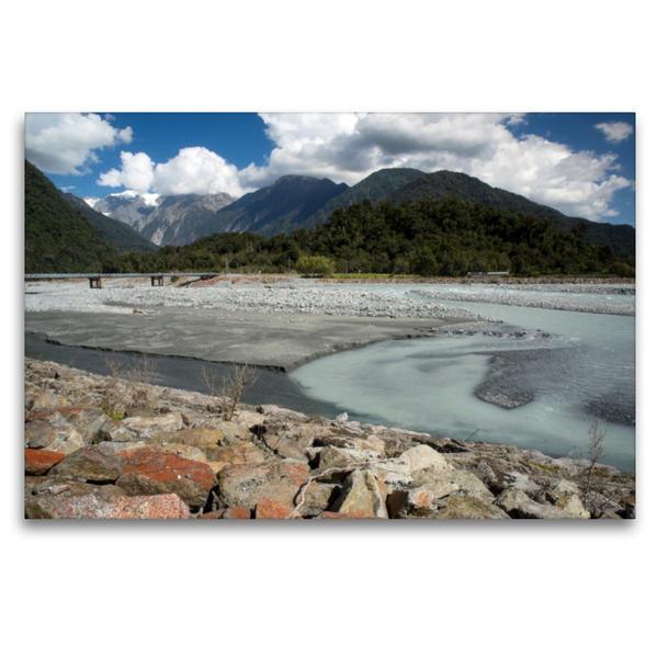 Premium Textil-Leinwand 120 cm x 80 cm quer, Neuseeland's Westküste | Wandbild, Bild auf Keilrahmen, Fertigbild auf echter Leinwand, Leinwanddruck - Coverbild