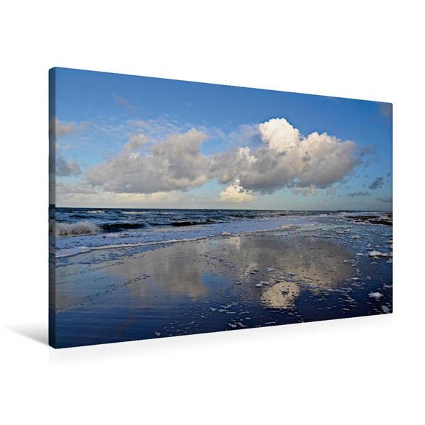 Premium Textil-Leinwand 90 cm x 60 cm quer, Wolken über der Nordsee | Wandbild, Bild auf Keilrahmen, Fertigbild auf echter Leinwand, Leinwanddruck - Coverbild