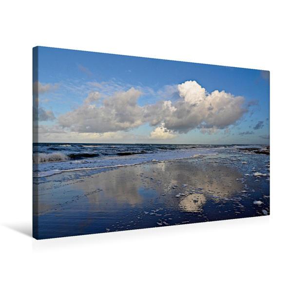 Premium Textil-Leinwand 75 cm x 50 cm quer, Wolken über der Nordsee | Wandbild, Bild auf Keilrahmen, Fertigbild auf echter Leinwand, Leinwanddruck - Coverbild