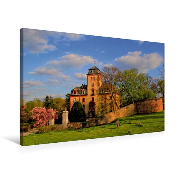 Premium Textil-Leinwand 75 cm x 50 cm quer, Schloss Wachendorf | Wandbild, Bild auf Keilrahmen, Fertigbild auf echter Leinwand, Leinwanddruck - Coverbild