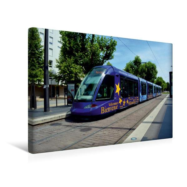 Premium Textil-Leinwand 45 cm x 30 cm quer, Ein Motiv aus dem Kalender Straßenbahnen in Europa | Wandbild, Bild auf Keilrahmen, Fertigbild auf echter Leinwand, Leinwanddruck - Coverbild