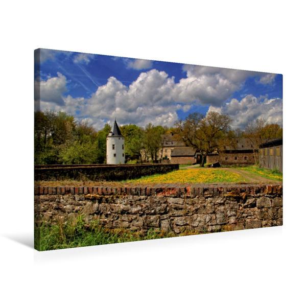 Premium Textil-Leinwand 75 cm x 50 cm quer, Burg Dreiborn | Wandbild, Bild auf Keilrahmen, Fertigbild auf echter Leinwand, Leinwanddruck - Coverbild