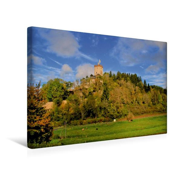 Premium Textil-Leinwand 45 cm x 30 cm quer, Burg Kerpen | Wandbild, Bild auf Keilrahmen, Fertigbild auf echter Leinwand, Leinwanddruck - Coverbild
