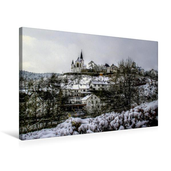 Premium Textil-Leinwand 75 cm x 50 cm quer, Reifferscheid im Winter   Wandbild, Bild auf Keilrahmen, Fertigbild auf echter Leinwand, Leinwanddruck - Coverbild