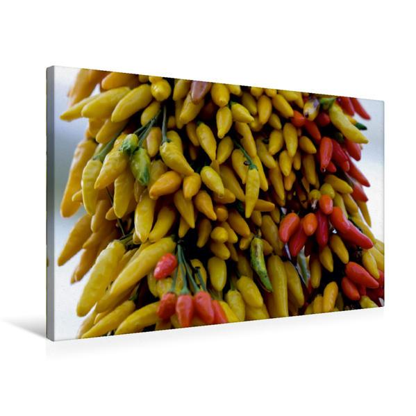 Premium Textil-Leinwand 75 cm x 50 cm quer, Ein Motiv aus dem Kalender Für Chili Liebhaber | Wandbild, Bild auf Keilrahmen, Fertigbild auf echter Leinwand, Leinwanddruck - Coverbild