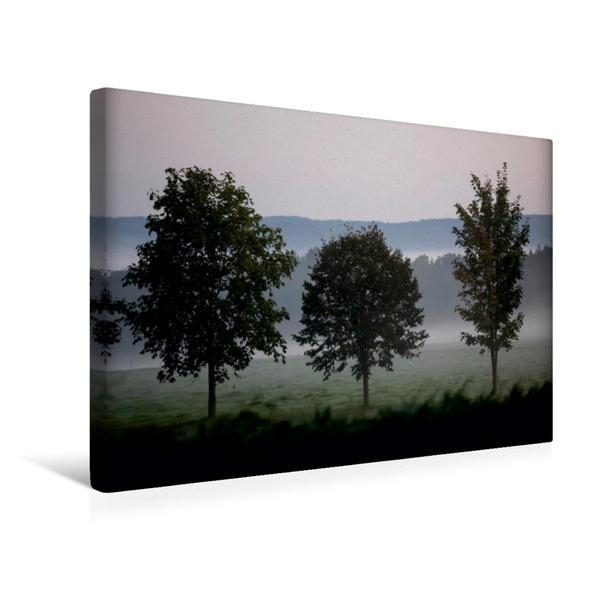 Premium Textil-Leinwand 45 cm x 30 cm quer, Ein Motiv aus dem Kalender Herbstmorgen in der Oberlausitz | Wandbild, Bild auf Keilrahmen, Fertigbild auf echter Leinwand, Leinwanddruck - Coverbild