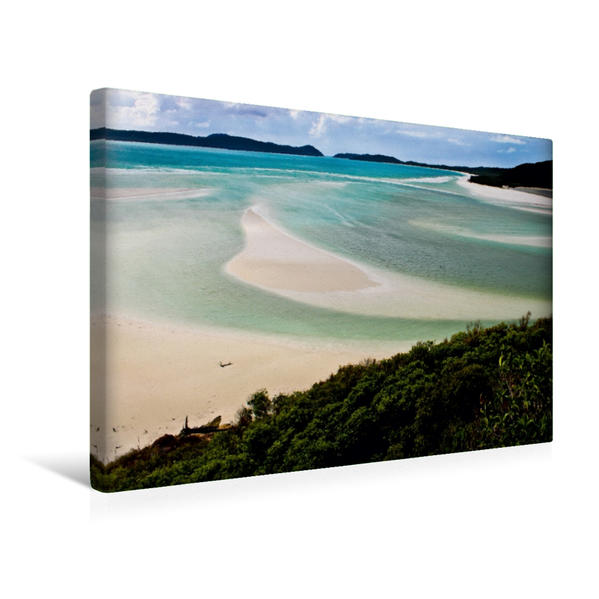 Premium Textil-Leinwand 45 cm x 30 cm quer, Whitehaven Beach Queensland Australien | Wandbild, Bild auf Keilrahmen, Fertigbild auf echter Leinwand, Leinwanddruck - Coverbild