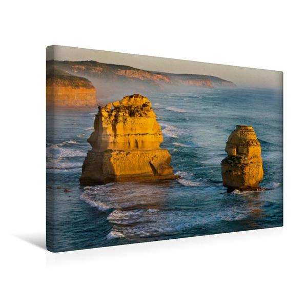 Premium Textil-Leinwand 45 cm x 30 cm quer, 12 Apostel Victoria Australien | Wandbild, Bild auf Keilrahmen, Fertigbild auf echter Leinwand, Leinwanddruck - Coverbild