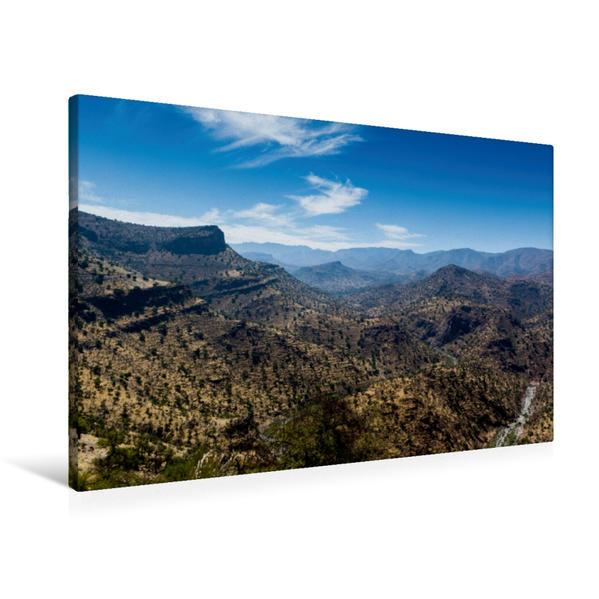 Premium Textil-Leinwand 90 cm x 60 cm quer, Im Antiatlas-Gebirge. | Wandbild, Bild auf Keilrahmen, Fertigbild auf echter Leinwand, Leinwanddruck - Coverbild