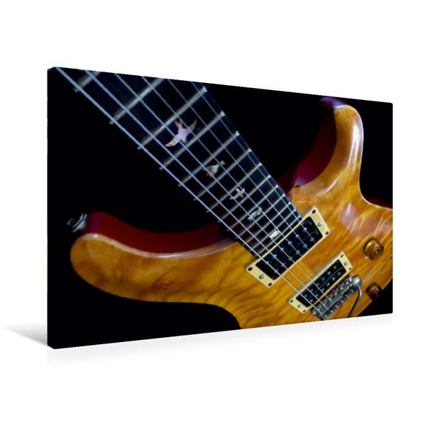 Premium Textil-Leinwand 75 cm x 50 cm quer, Old Rock Guitar   Wandbild, Bild auf Keilrahmen, Fertigbild auf echter Leinwand, Leinwanddruck - Coverbild